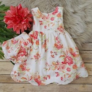 Ralph Lauren Cotton Floral Dress with Bloomers